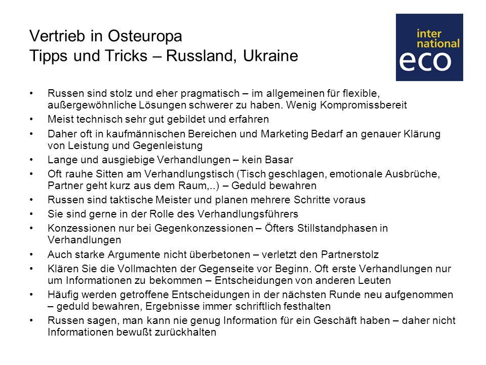 Vertrieb in Osteuropa Tipps und Tricks – Russland, Ukraine