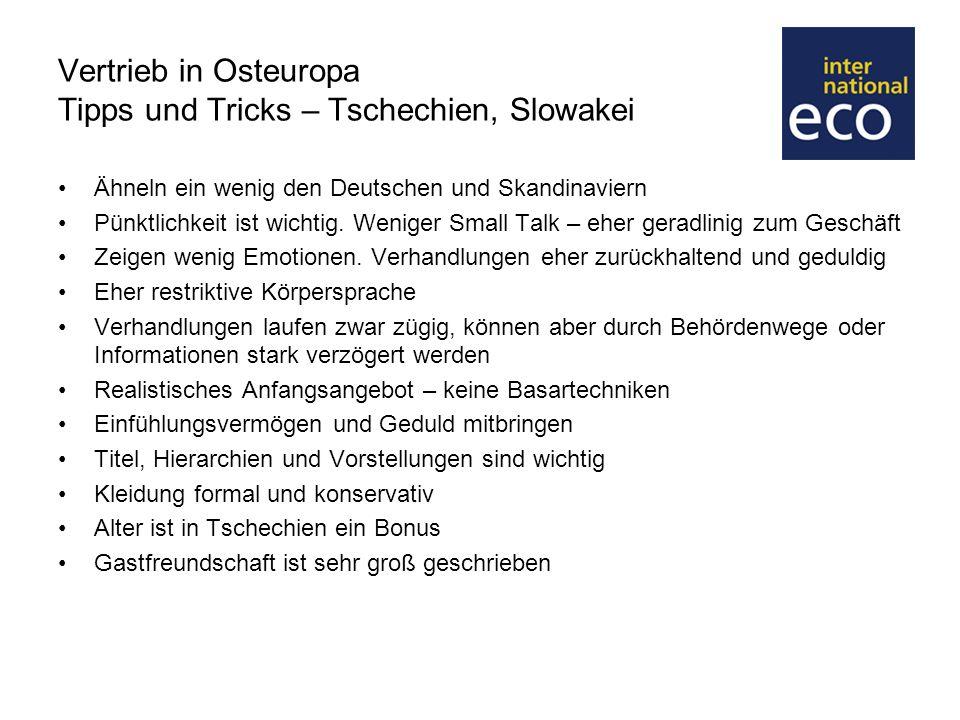 Vertrieb in Osteuropa Tipps und Tricks – Tschechien, Slowakei
