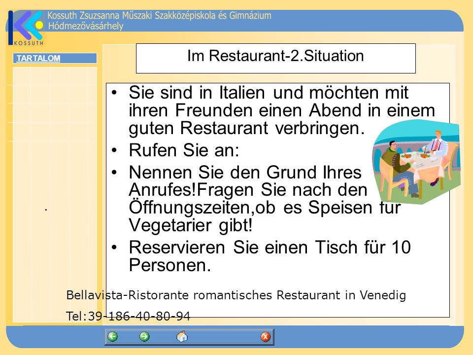 Im Restaurant-2.Situation