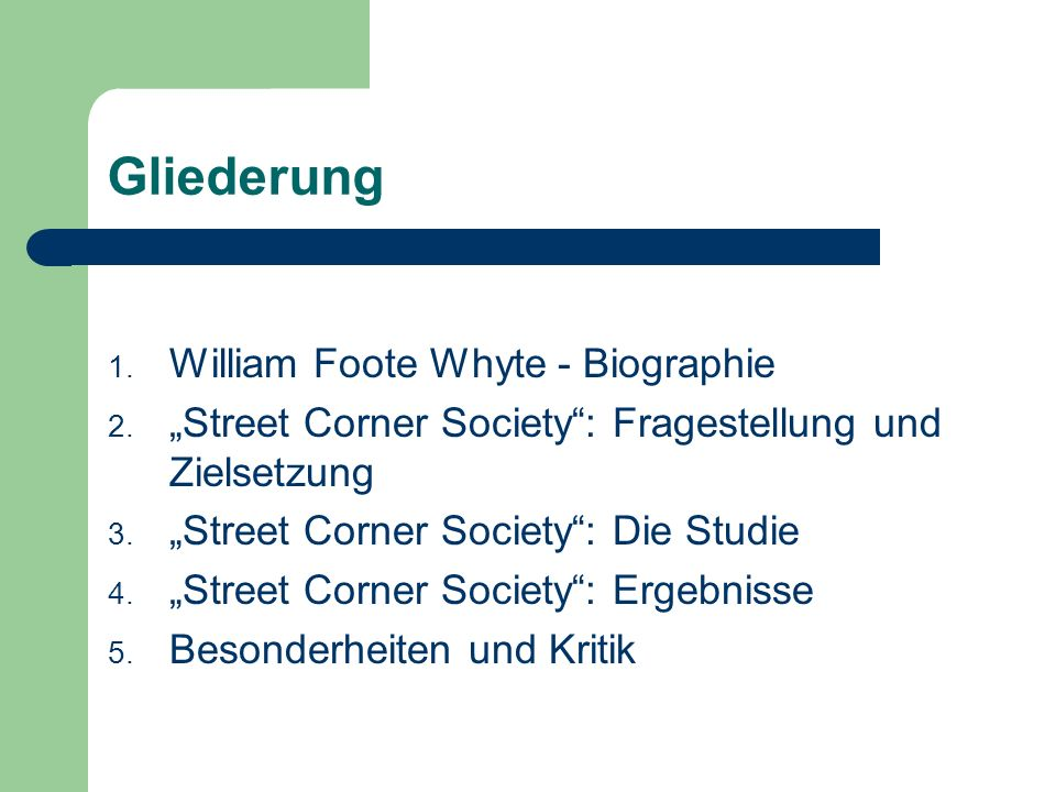 Street Corner Society - W.F.Whyte