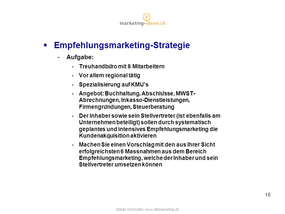 Empfehlungsmarketing-Strategie