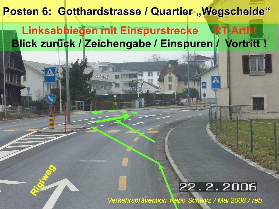 """Posten 6: Gotthardstrasse / Quartier """"Wegscheide"""