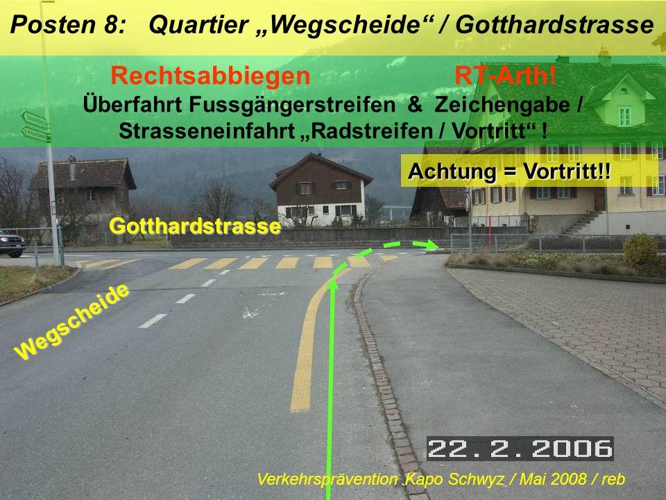 """Posten 8: Quartier """"Wegscheide / Gotthardstrasse"""