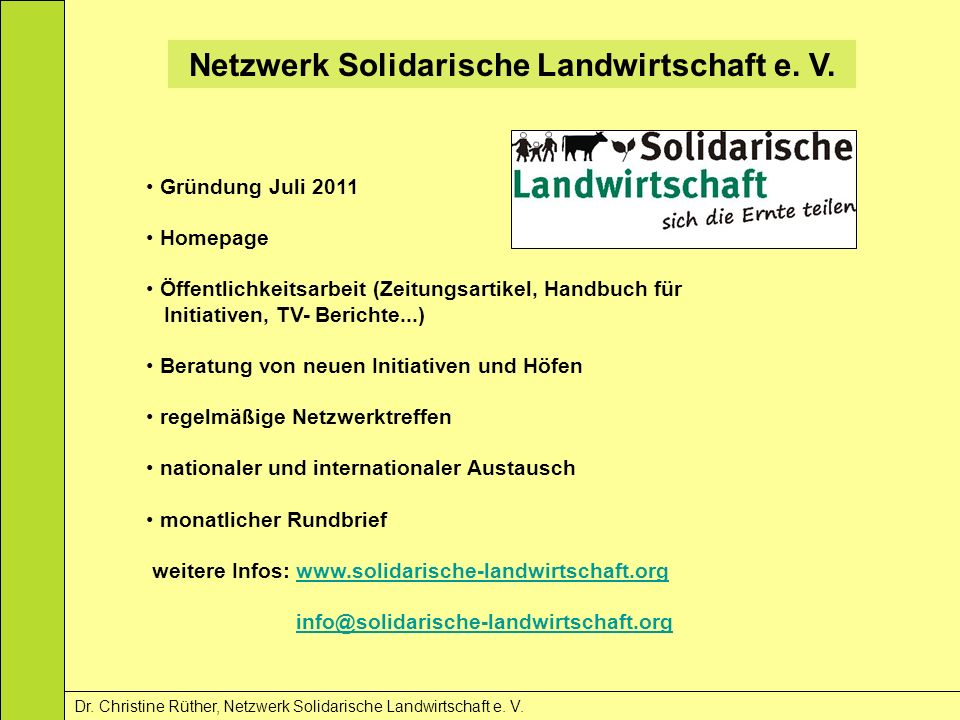 Netzwerk Solidarische Landwirtschaft e. V.