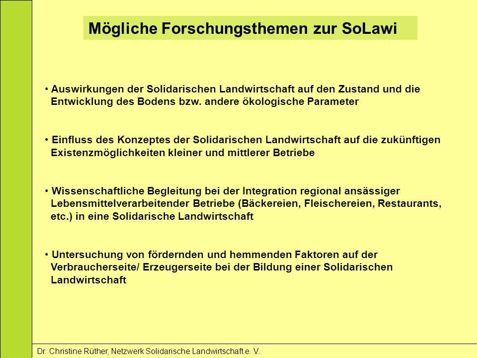 Mögliche Forschungsthemen zur SoLawi