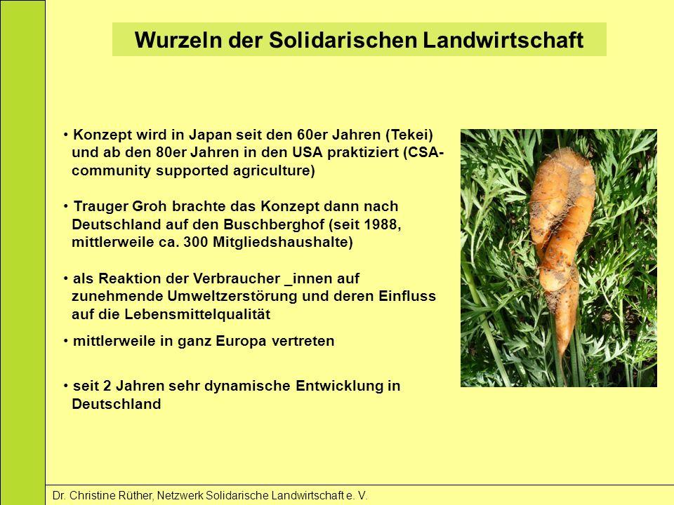 Wurzeln der Solidarischen Landwirtschaft