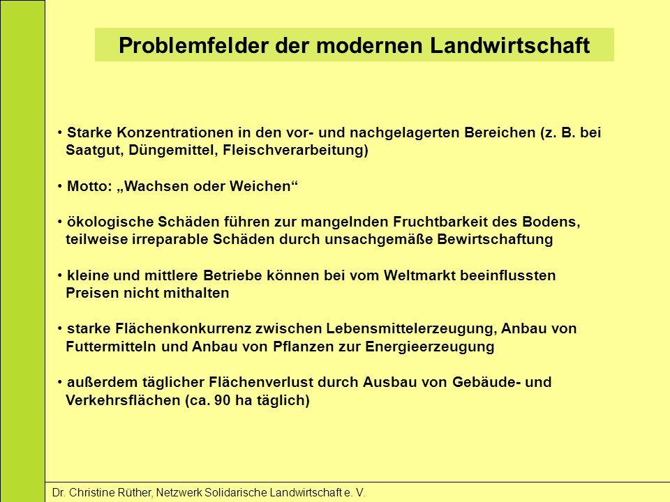 Problemfelder der modernen Landwirtschaft