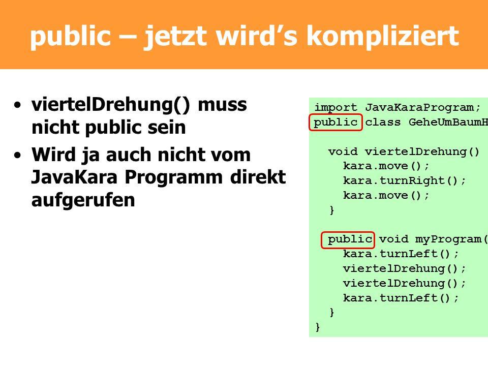 public – jetzt wird's kompliziert