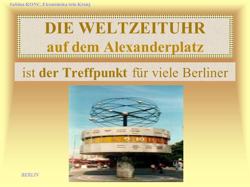 DIE WELTZEITUHR auf dem Alexanderplatz