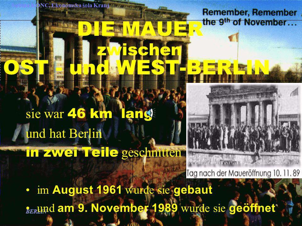 DIE MAUER zwischen OST - und WEST-BERLIN