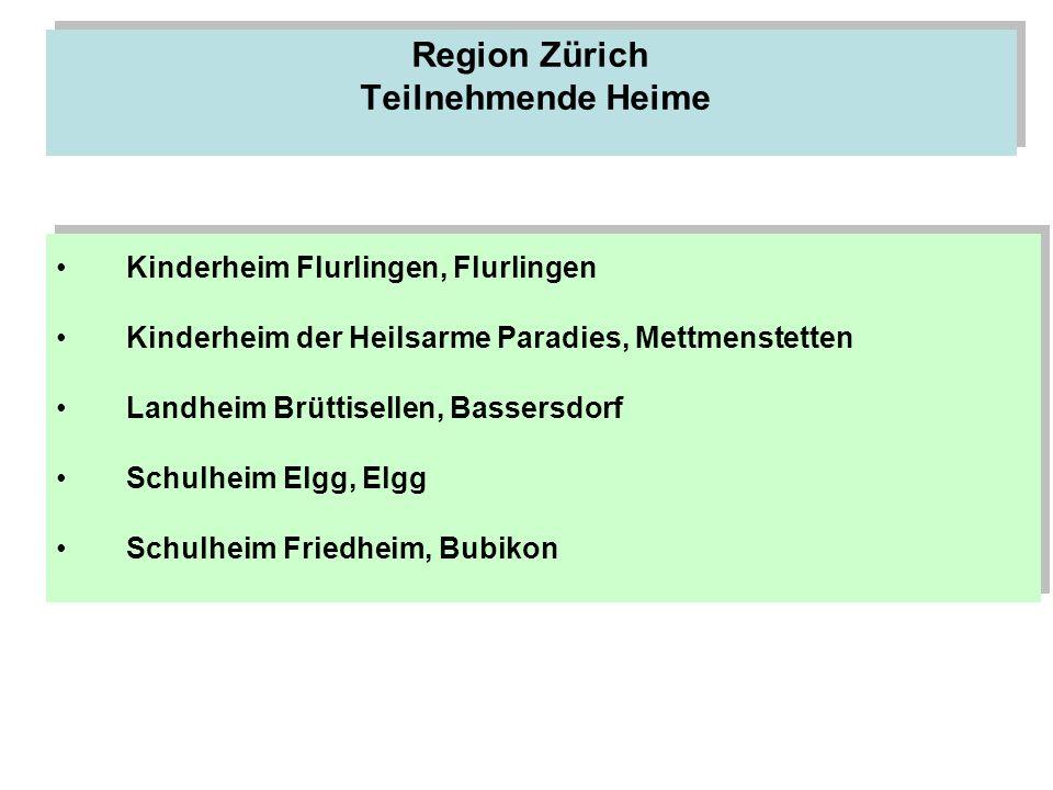 Region Zürich Teilnehmende Heime