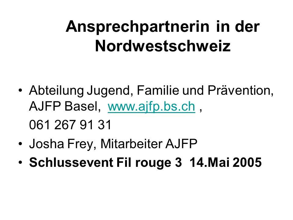 Ansprechpartnerin in der Nordwestschweiz