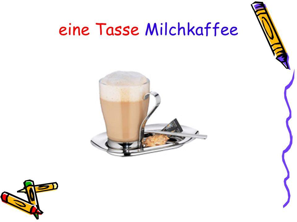 eine Tasse Milchkaffee