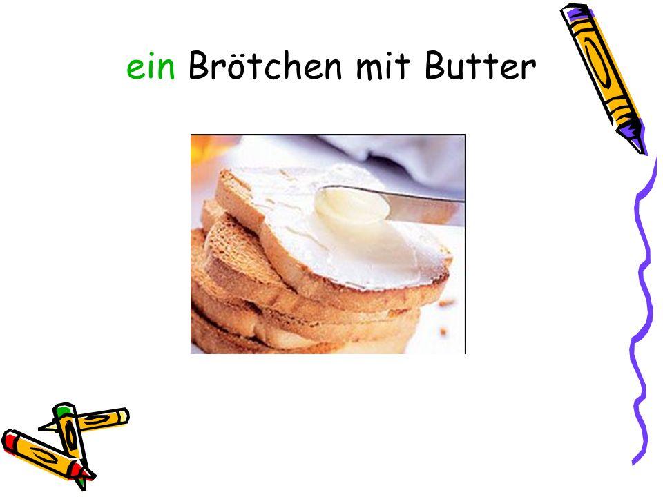 ein Brötchen mit Butter