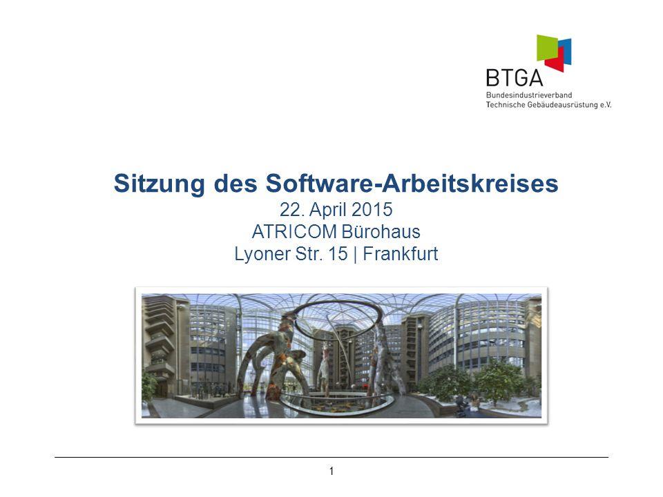 Sitzung des Software-Arbeitskreises 22