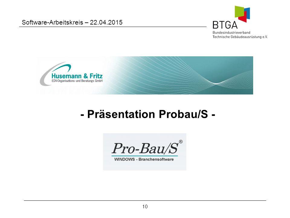 - Präsentation Probau/S -