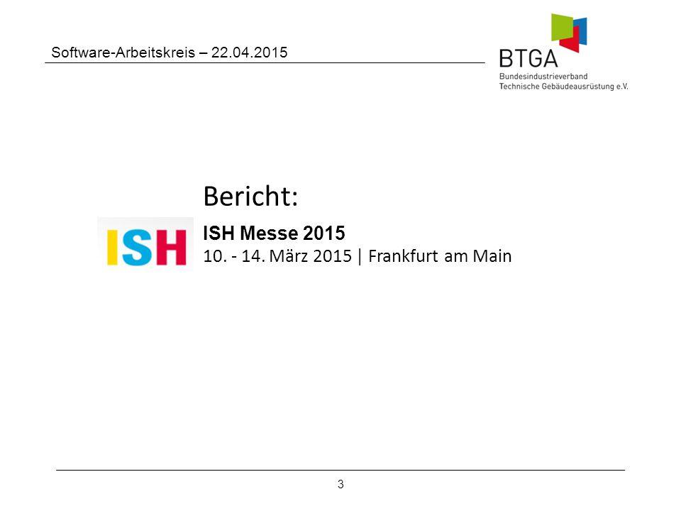 Bericht: ISH Messe 2015 10. - 14. März 2015 | Frankfurt am Main