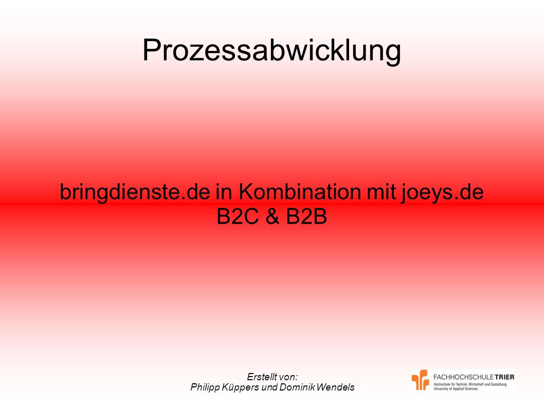 bringdienste.de in Kombination mit joeys.de B2C & B2B