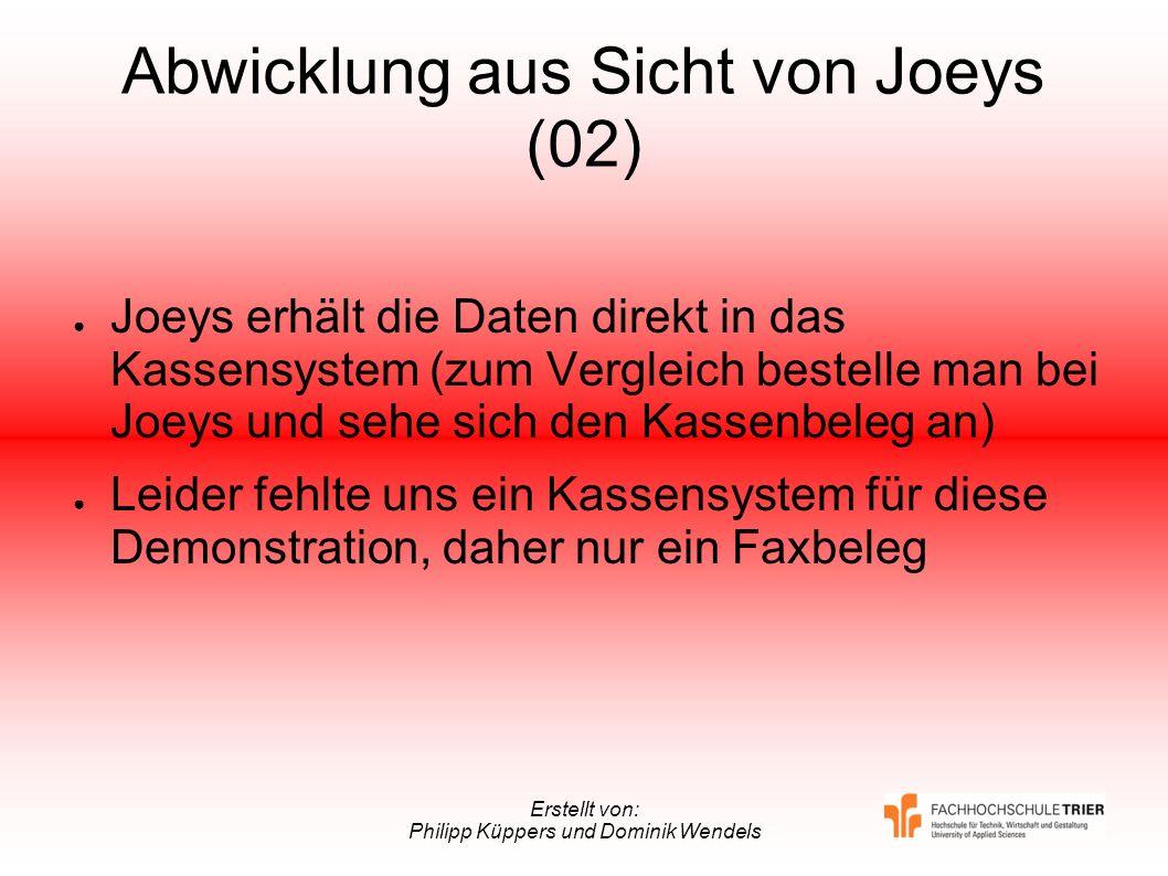 Abwicklung aus Sicht von Joeys (02)