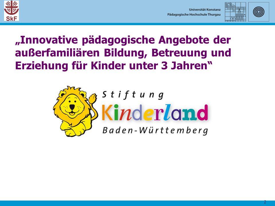 """""""Innovative pädagogische Angebote der außerfamiliären Bildung, Betreuung und Erziehung für Kinder unter 3 Jahren"""