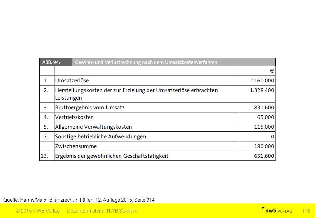 Quelle: Harms/Marx, Bilanzrecht in Fällen, 12. Auflage 2015, Seite 314