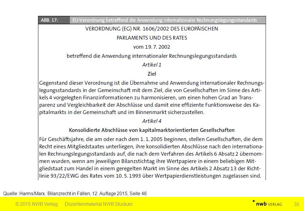 Quelle: Harms/Marx, Bilanzrecht in Fällen, 12. Auflage 2015, Seite 46