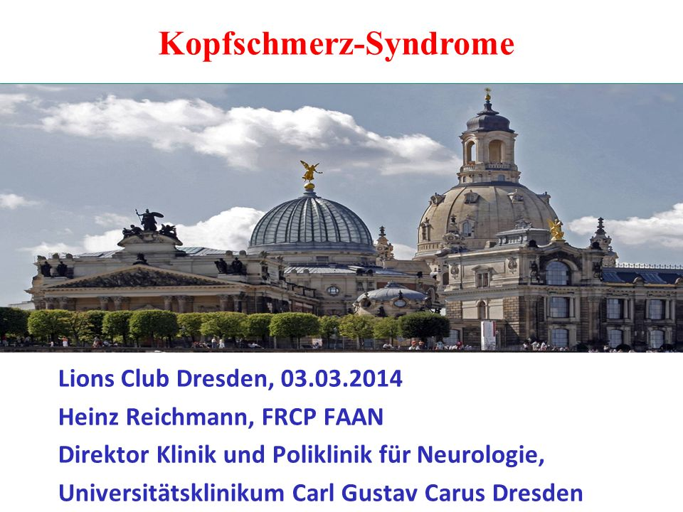Kopfschmerz-Syndrome