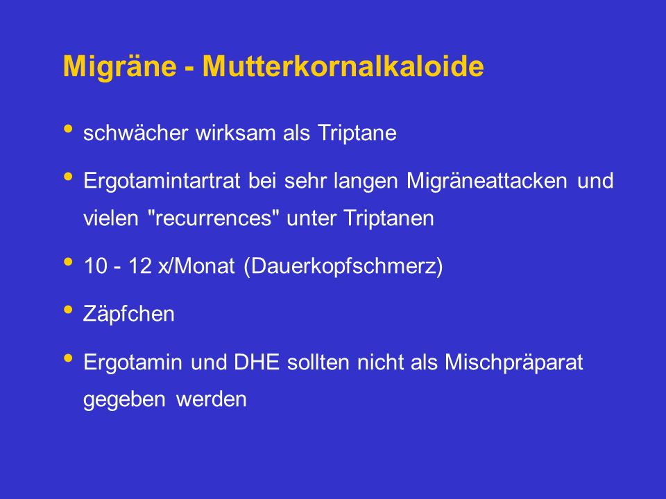 Migräne - Mutterkornalkaloide