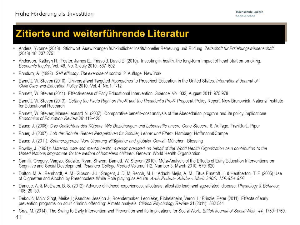 Zitierte und weiterführende Literatur