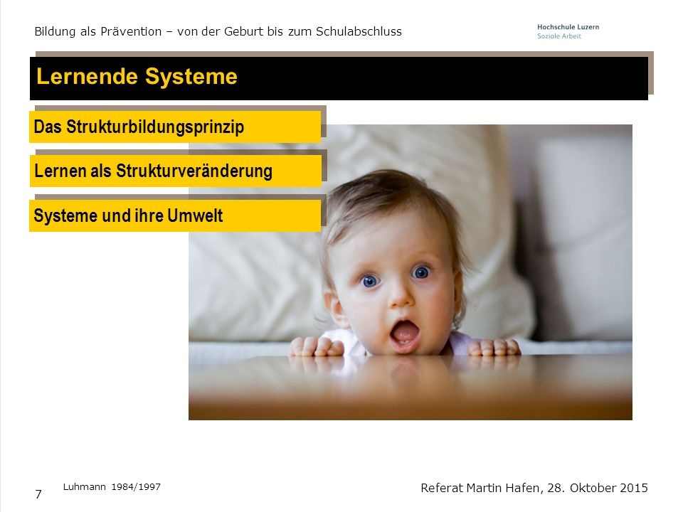 Lernende Systeme Das Strukturbildungsprinzip