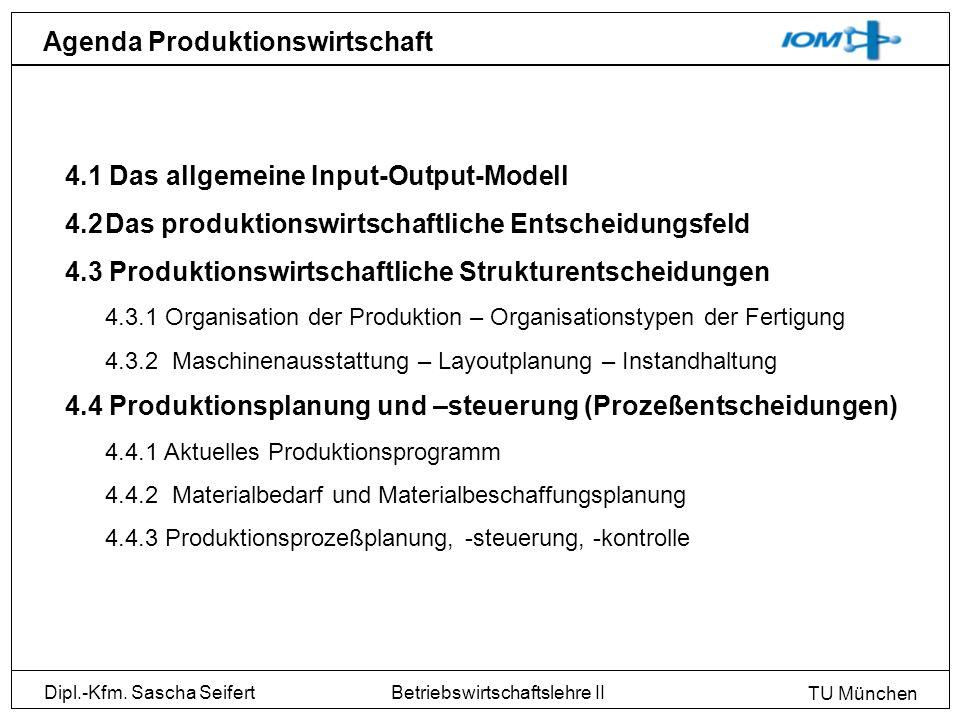 Agenda Produktionswirtschaft