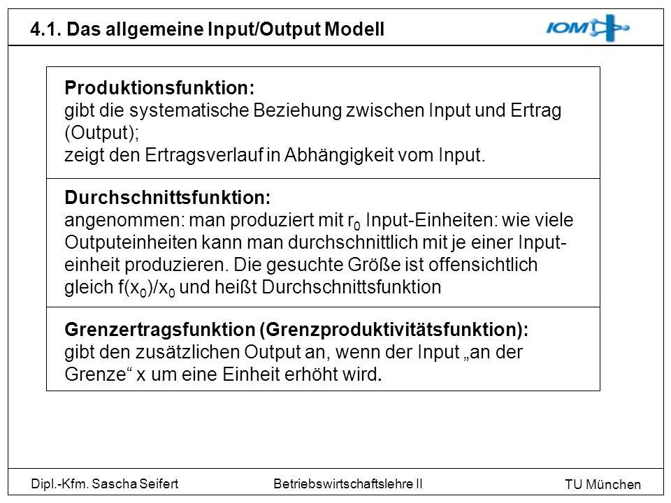4.1. Das allgemeine Input/Output Modell