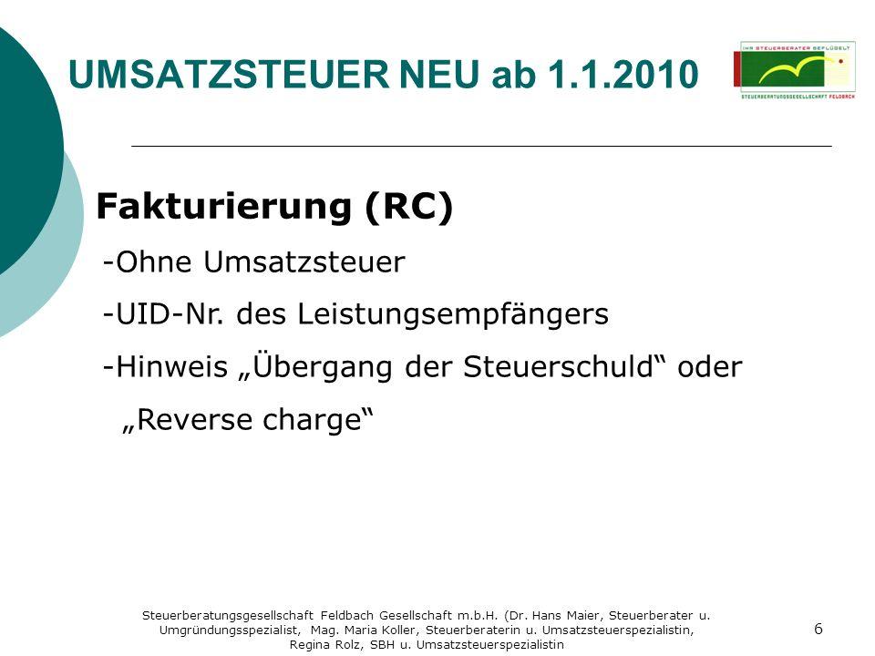 Regina Rolz, SBH u. Umsatzsteuerspezialistin