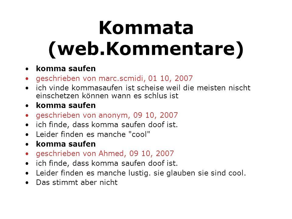 Kommata (web.Kommentare)