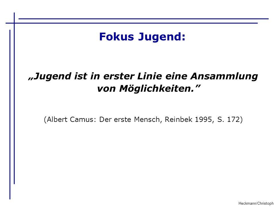 """Fokus Jugend: """"Jugend ist in erster Linie eine Ansammlung von Möglichkeiten. (Albert Camus: Der erste Mensch, Reinbek 1995, S. 172)"""