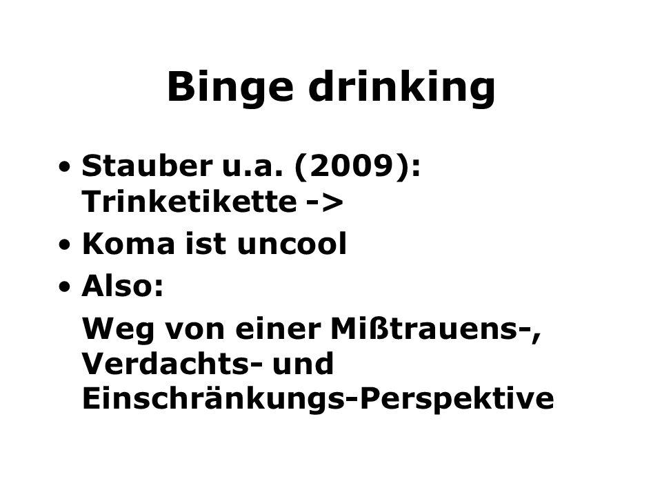 Binge drinking Stauber u.a. (2009): Trinketikette ->
