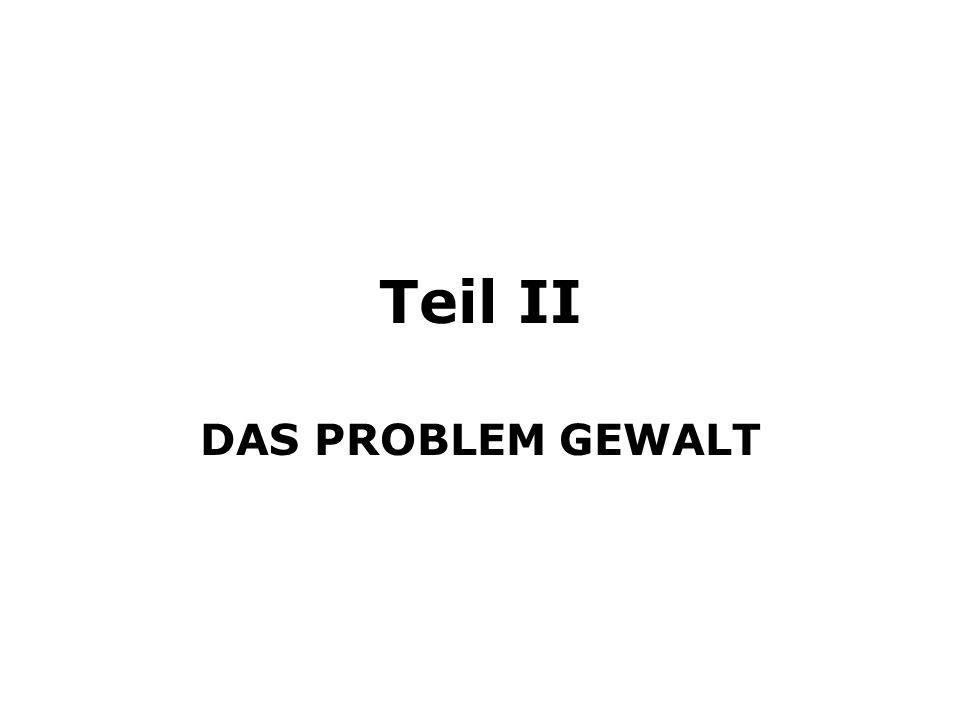Teil II DAS PROBLEM GEWALT