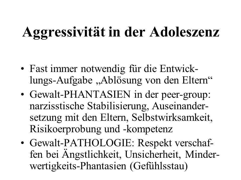 Aggressivität in der Adoleszenz