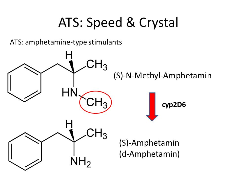 ATS: Speed & Crystal (S)-N-Methyl-Amphetamin