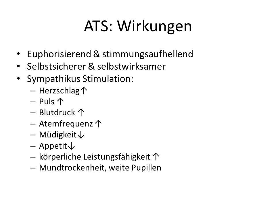ATS: Wirkungen Euphorisierend & stimmungsaufhellend