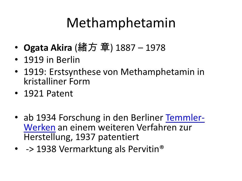 Methamphetamin Ogata Akira (緒方 章) 1887 – 1978 1919 in Berlin