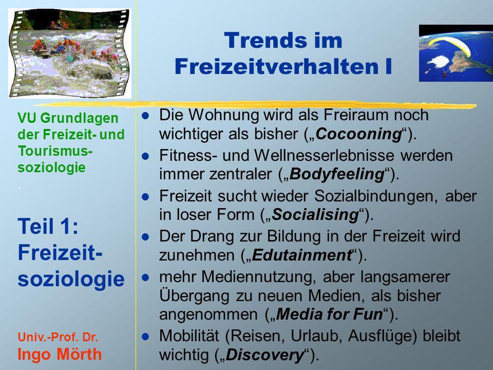 Trends im Freizeitverhalten I