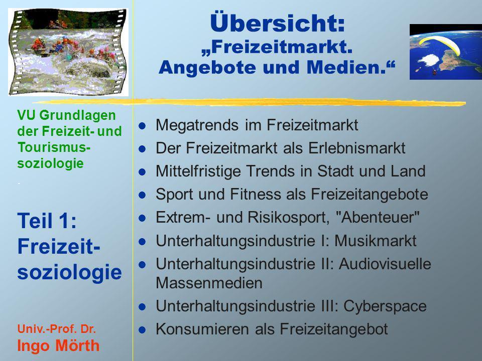 """Übersicht: """"Freizeitmarkt. Angebote und Medien."""