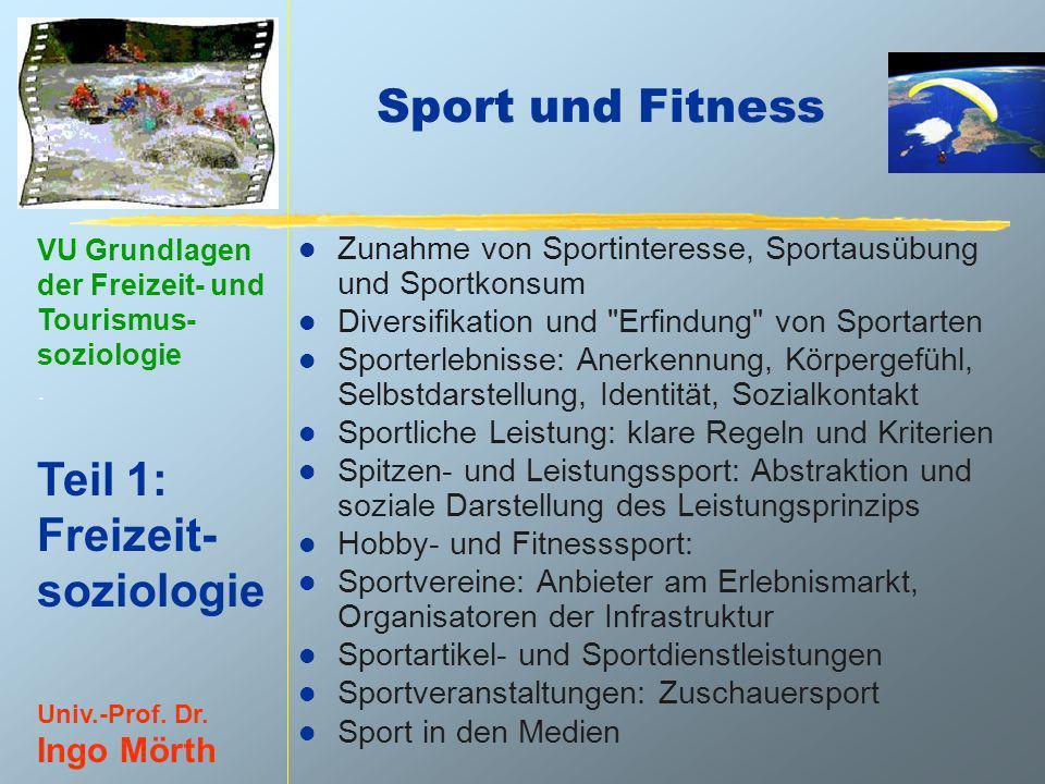 28.03.2017 Sport und Fitness. Zunahme von Sportinteresse, Sportausübung und Sportkonsum. Diversifikation und Erfindung von Sportarten.