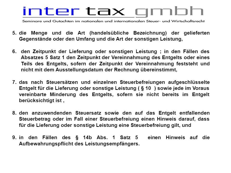 hinweis rechnung steuerbefreiung
