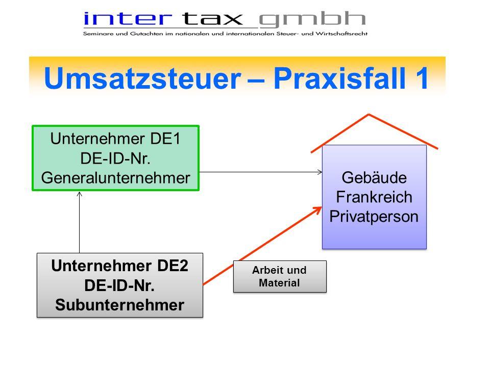 Umsatzsteuer – Praxisfall 1