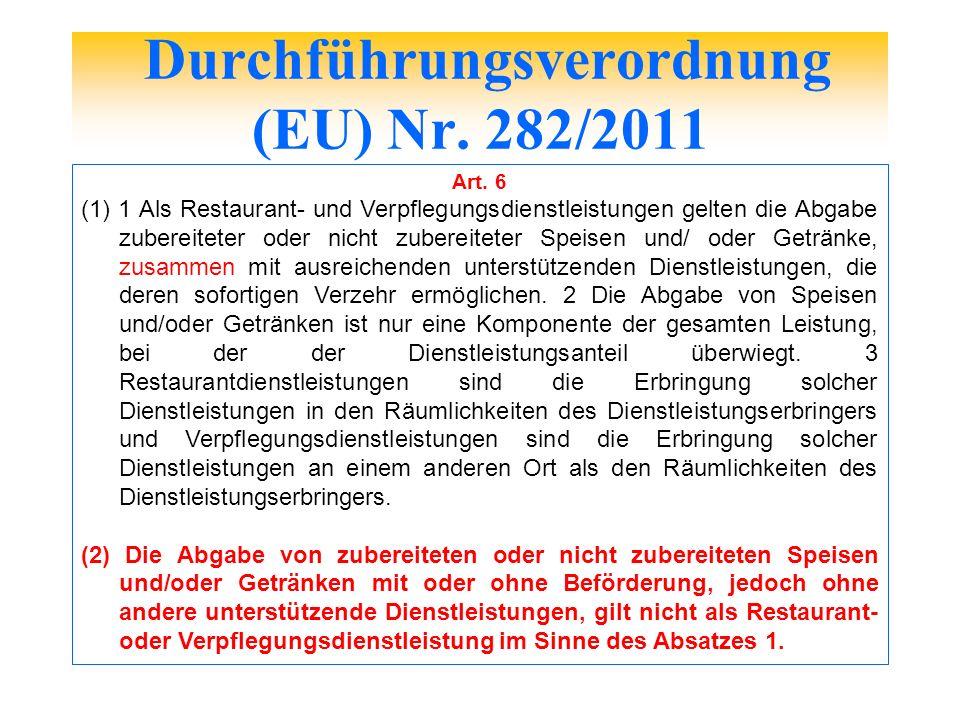 Durchführungsverordnung (EU) Nr. 282/2011
