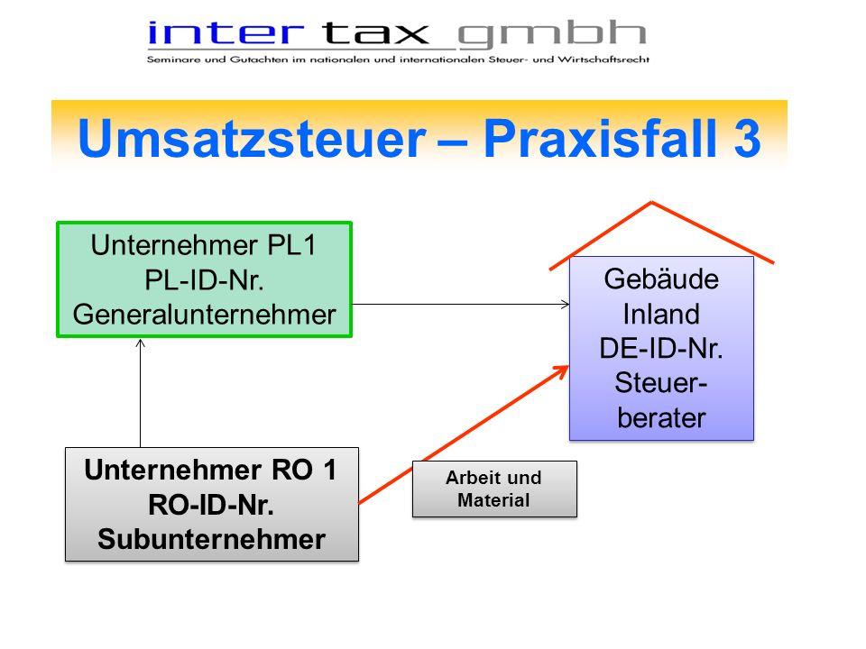 Umsatzsteuer – Praxisfall 3