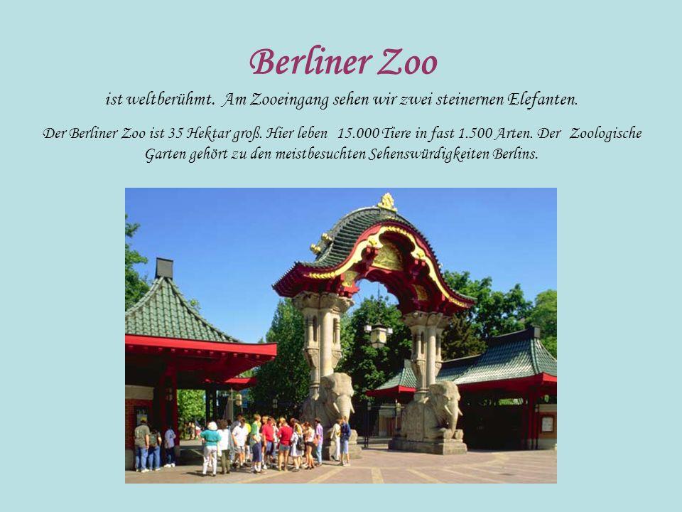 Berliner Zoo ist weltberühmt