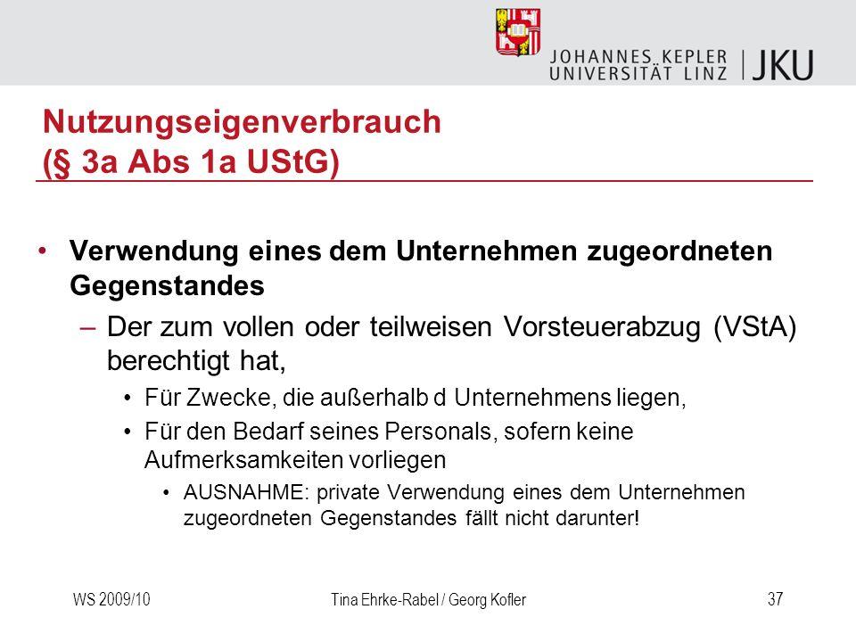 Nutzungseigenverbrauch (§ 3a Abs 1a UStG)